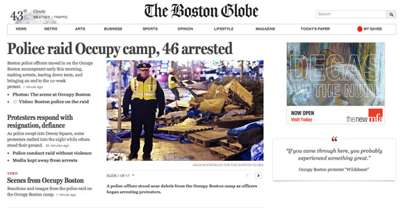 Boston Globe Large Screen