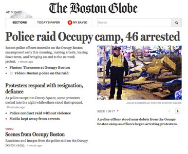 Boston Globe Tablet
