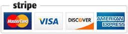 All credit cards • Secure online payments provided by Stripe, Inc.